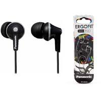 AUDIFONOS TIPO INSERCION (IN-EAR)  PANASONIC RP-HJE125PP COLOR NEGRO CONECTOR 3.5MM PANASONIC
