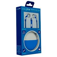AUDIFONOS IN-EAR CON MICROFONO EASY LINE BY PERFECT CHOICE AZUL/BLANCO PERFECT CHOICE