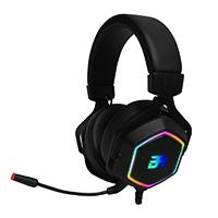 AUDIFONOS GAMING HESIX BALAM RUSH SPECTRUM/ACTECK  ON-EAR/USB/7.1 CANALES/RGB/MICROFONO/COLOR NEGRO/BR-929776 ACTECK